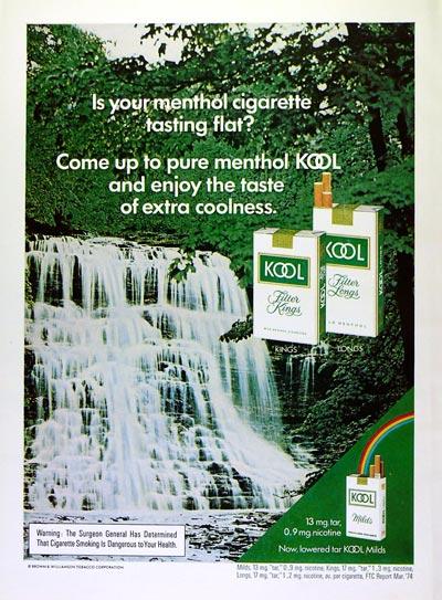 Kool menthol cigarette